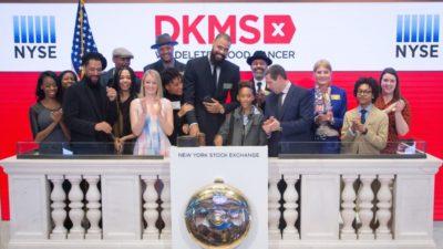 DKMS läutet die NYSE Closing Bell