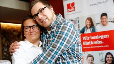Susanne Otten und Lebensretter Frederik Hahne