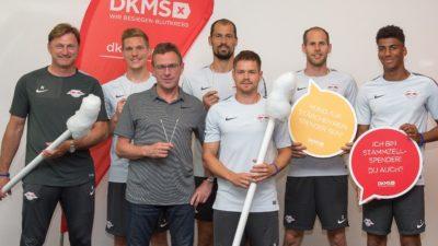 RB Leipzig unterstützt DKMS