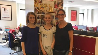 Rinah im DKMS Office in New York