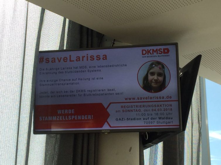 #saveLARISSA - Aktion in Stuttgart