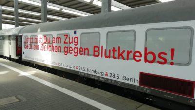 Jetzt bist du am Zug - Setz ein Zeichen gegen Blutkrebs!
