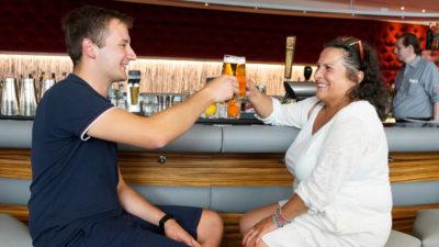 Auf ein Bier mit dem Lebensretter