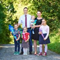 Familie Heel bei der Einschulung von Benjamin