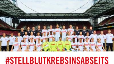 1. FC Köln: Wir stellen Blutkrebs ins Abseits