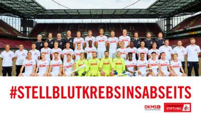1. FC Köln: Wir stellen Blutkrebs ins Abseits!