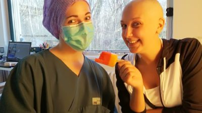 Alina während der Chemotherapie