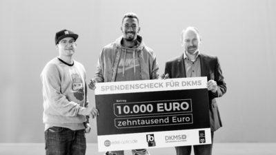 """Jérôme Boateng mit """"Durchblick"""" für die DKMS"""