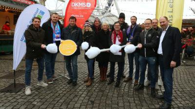 Sportstadt Düsseldorf im Schulterschluss gegen Blutkrebs