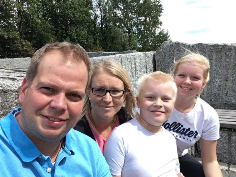 Heidi mit ihrer Familie