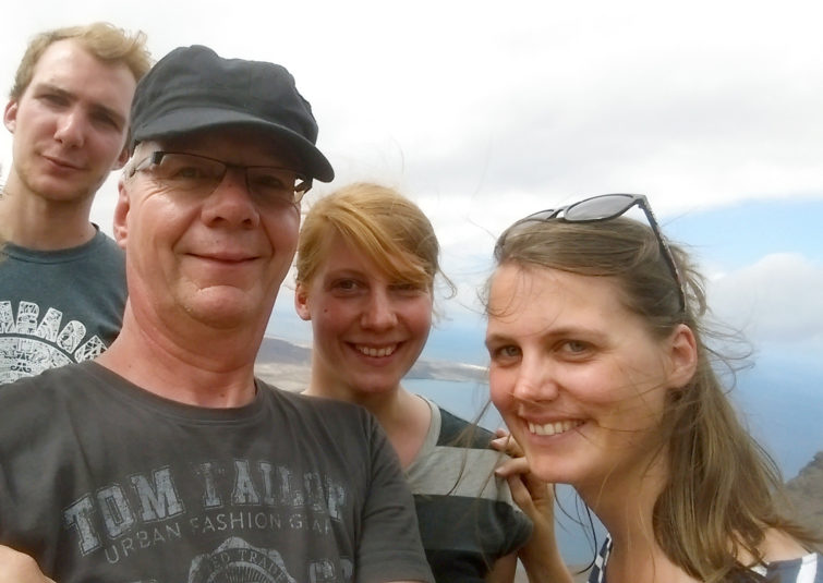 Martin mit seinen Kindern