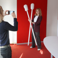 Im DKMS-Talk: Moderatorin Eva Imhof